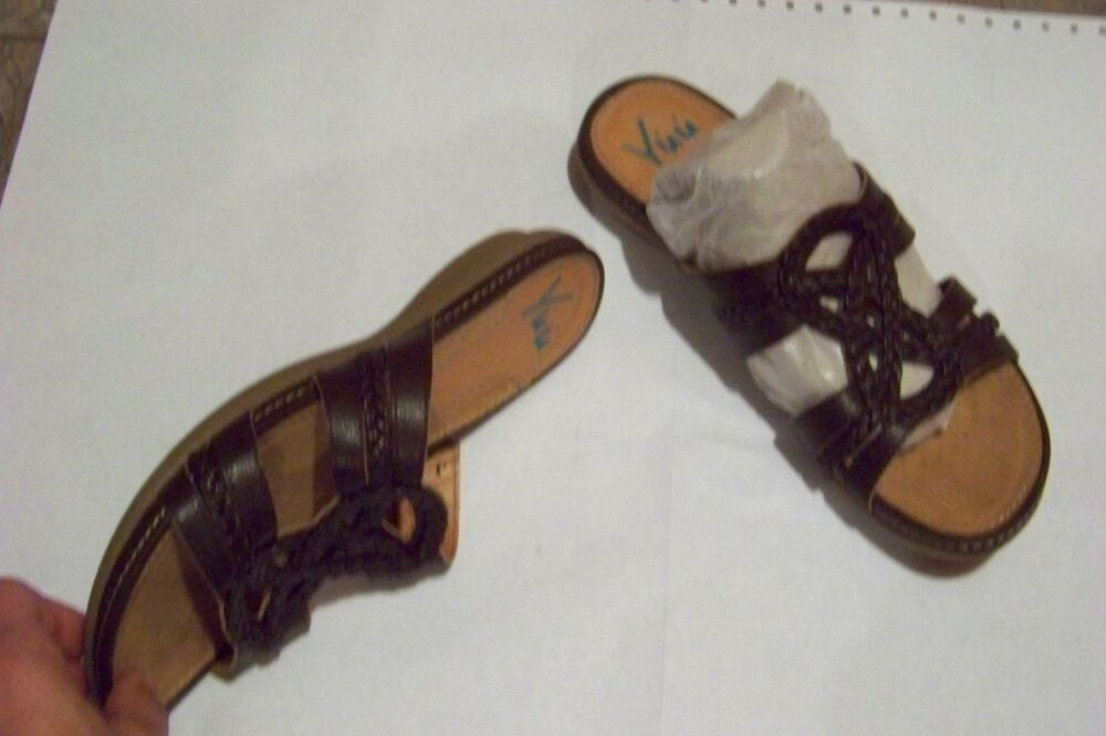 Womens Yuu Acelin Brown Braided Strappy Sandals Shoes Size