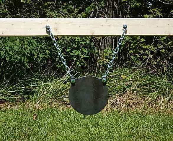Ar500 8 Inch Diameter Gong Target With Hanging Chain Kit
