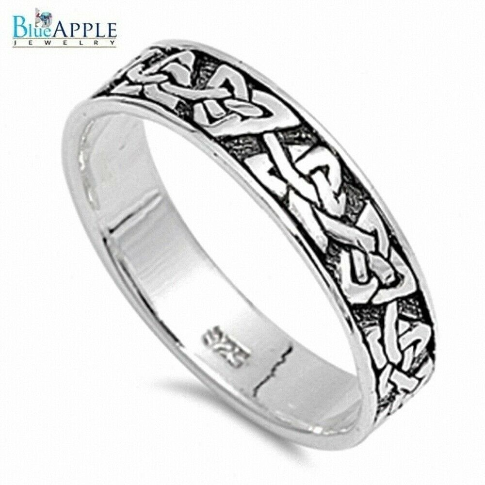 Mens Solid Silver Wedding Rings