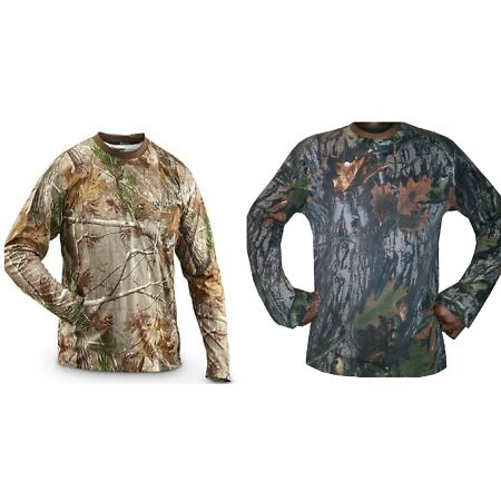 img-Mens Camo Jungle Forest Real Tree Long Sleeved T Shirt