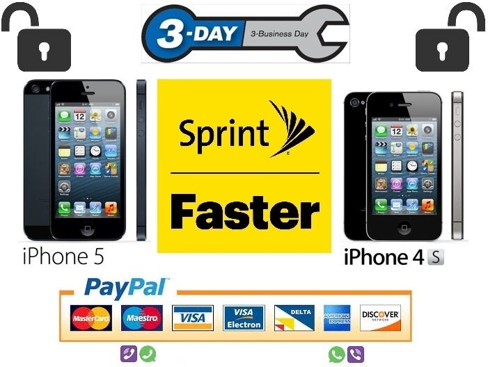 unlock iphone 4s sprint usa sprint official factory unlock code service iphone 5 7160