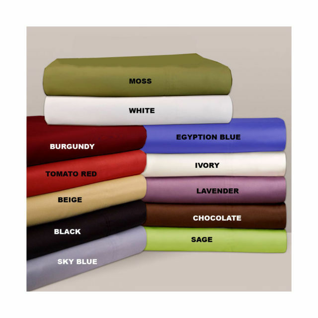 Extra Deep Pocket 3pc Fitted Sheet 800 Tc 100 Egyptian Cotton All Size Amp Color Ebay