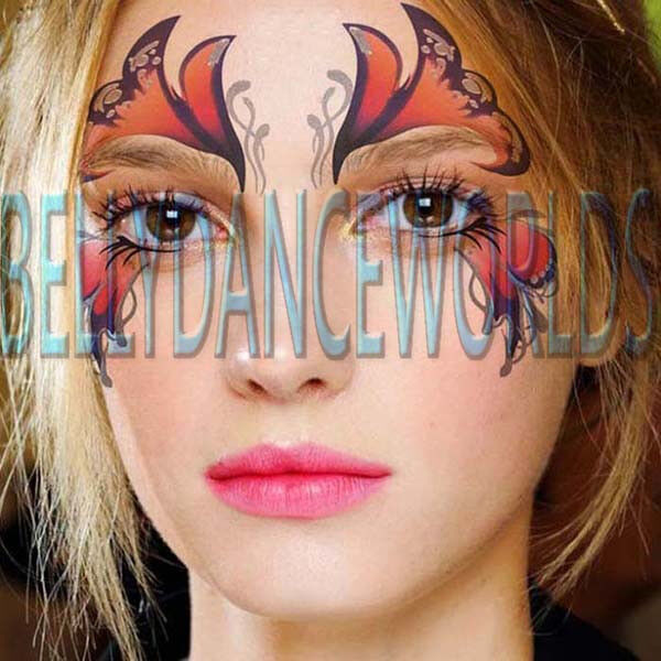 Face eye temporary tattoo halloween costume stage party for Halloween makeup tattoos