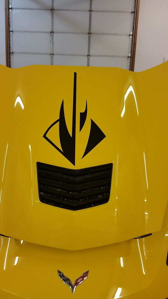 Chevy Corvette StingRay Logo C7 Hood decal 2014 2015 2016 2017 | eBay