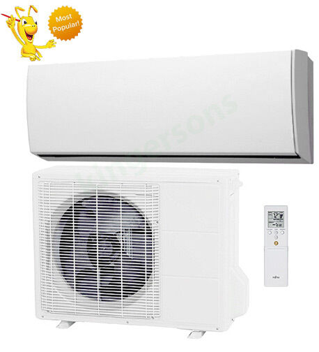 18000 btu fujitsu seer 19 ductless wall mounted heat pump air conditioner ebay. Black Bedroom Furniture Sets. Home Design Ideas