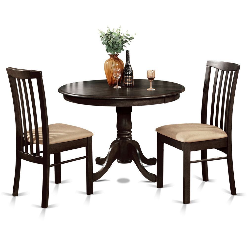 3 pc small kitchen table and chairs set table round table for Dinette sets with bench seating
