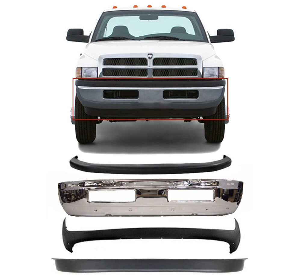 Replacement Front Bumper Combo For 1994-2001 Dodge Ram