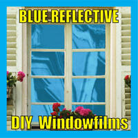 BLUE SOLAR REFLECTIVE ONE WAY MIRROR WINDOW FILM TINT