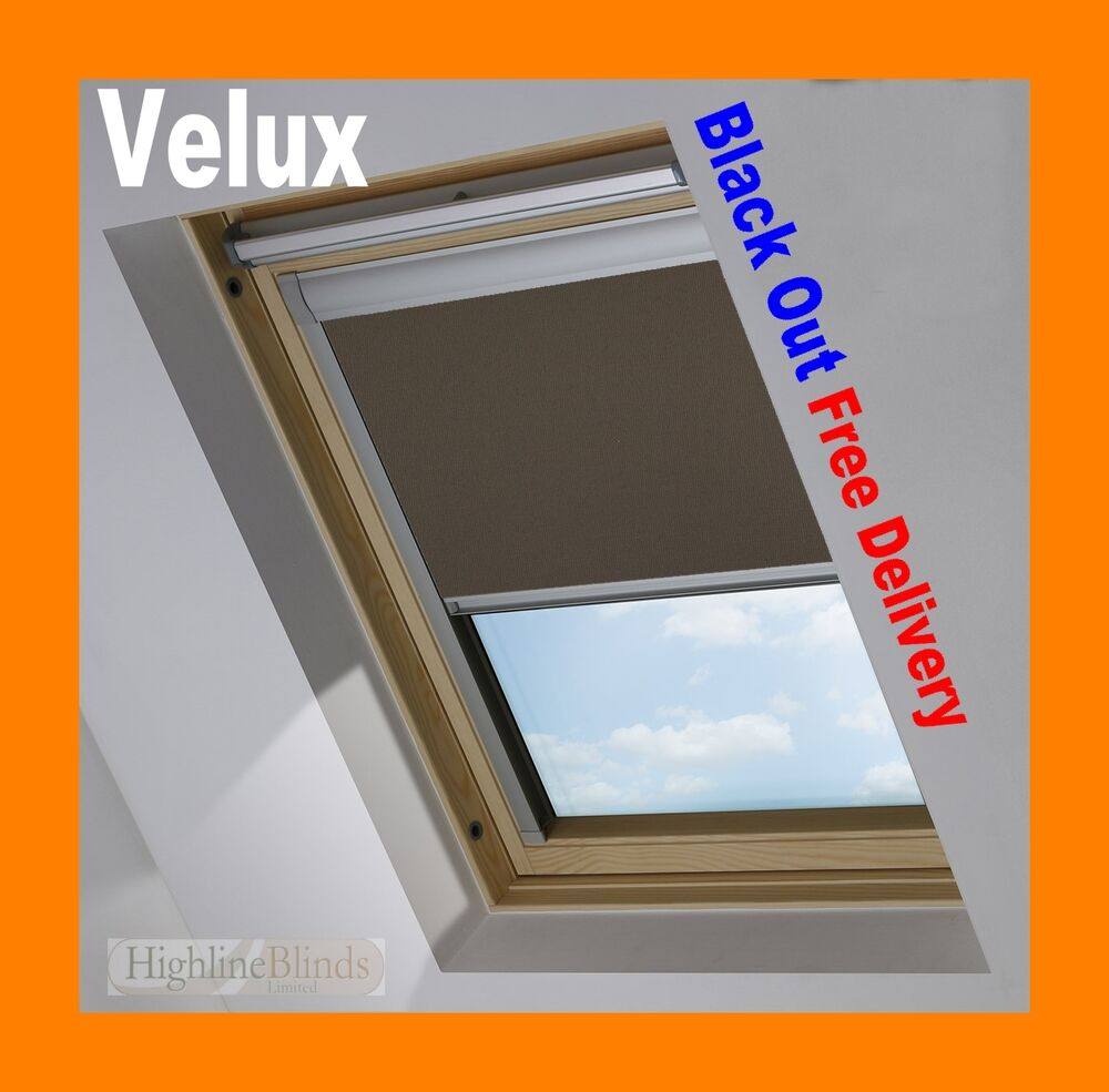 Velux Window Skylite Black Out Roller Roof Blinds Easy Fit