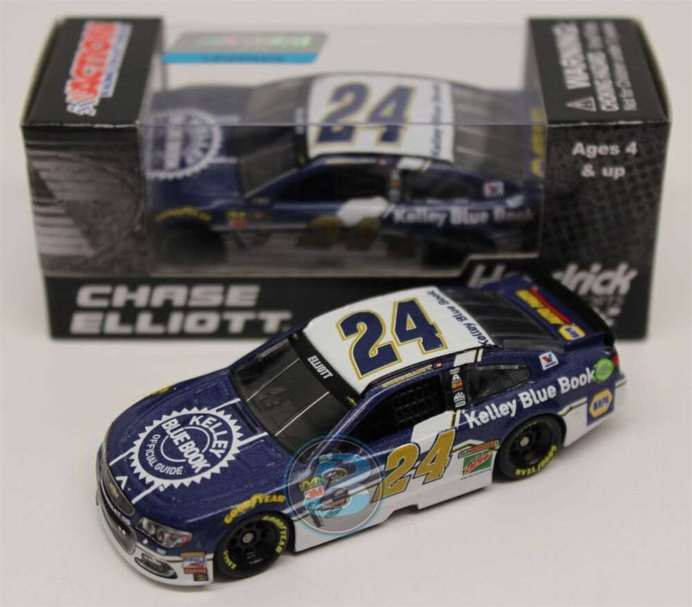 ROOKIE NASCAR 2016 CHASE ELLIOTT # 24 KELLY BLUE BOOK 1/64