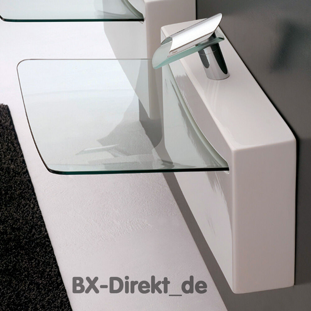 glas waschtisch crystal wall designer waschbecken keramik artceram aus italien ebay. Black Bedroom Furniture Sets. Home Design Ideas
