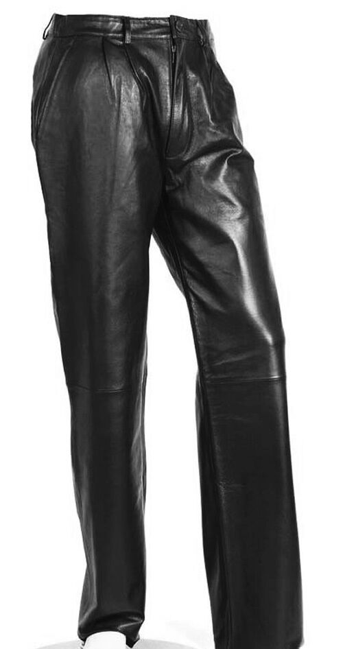 Men S Black Leather Pants Lambskin Dress Pants Sizes 28 30