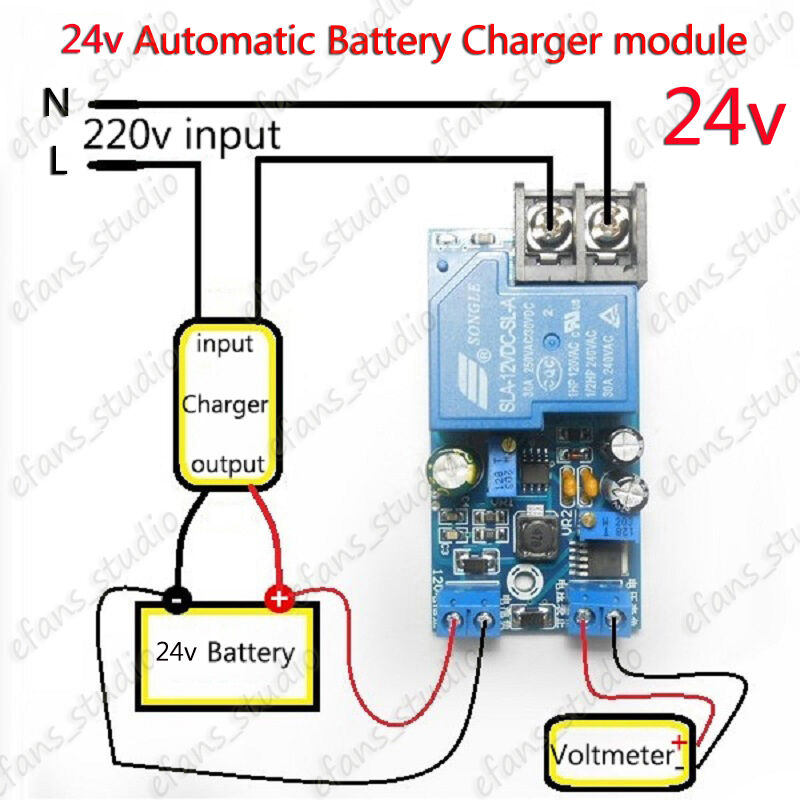 12v fan relay wiring diagram 24v 30a automatic battery charger protection module auto #6