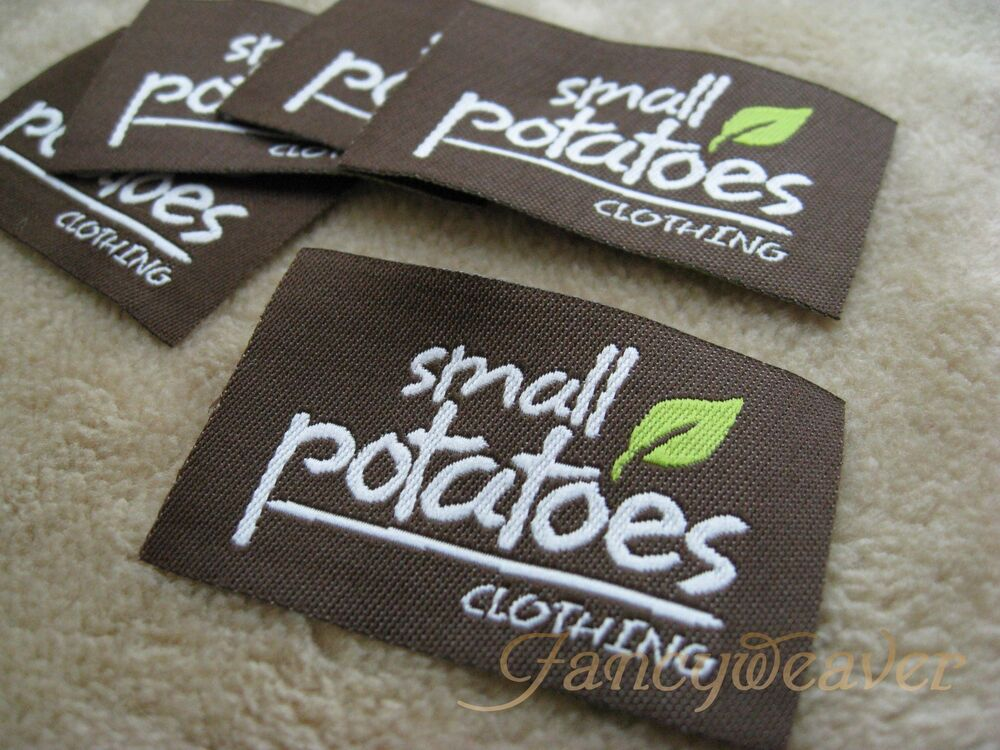 200pcs custom brand professional woven clothing labels Woven t shirt tags
