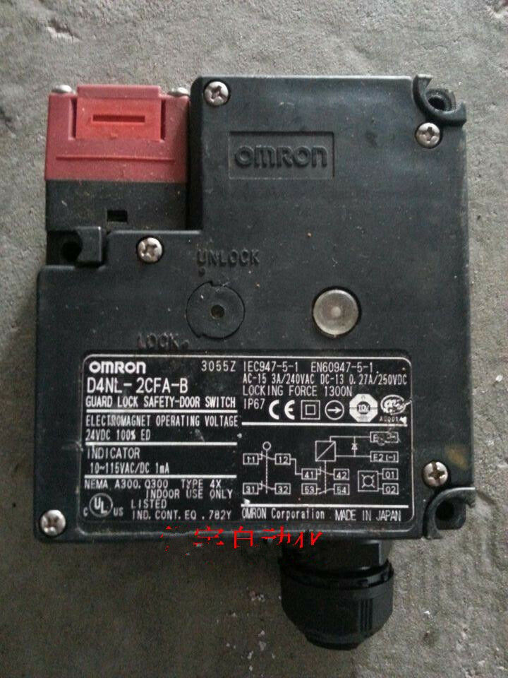 Door Switch Safety : New omron guard lock safety door switch d nl cfa b ebay