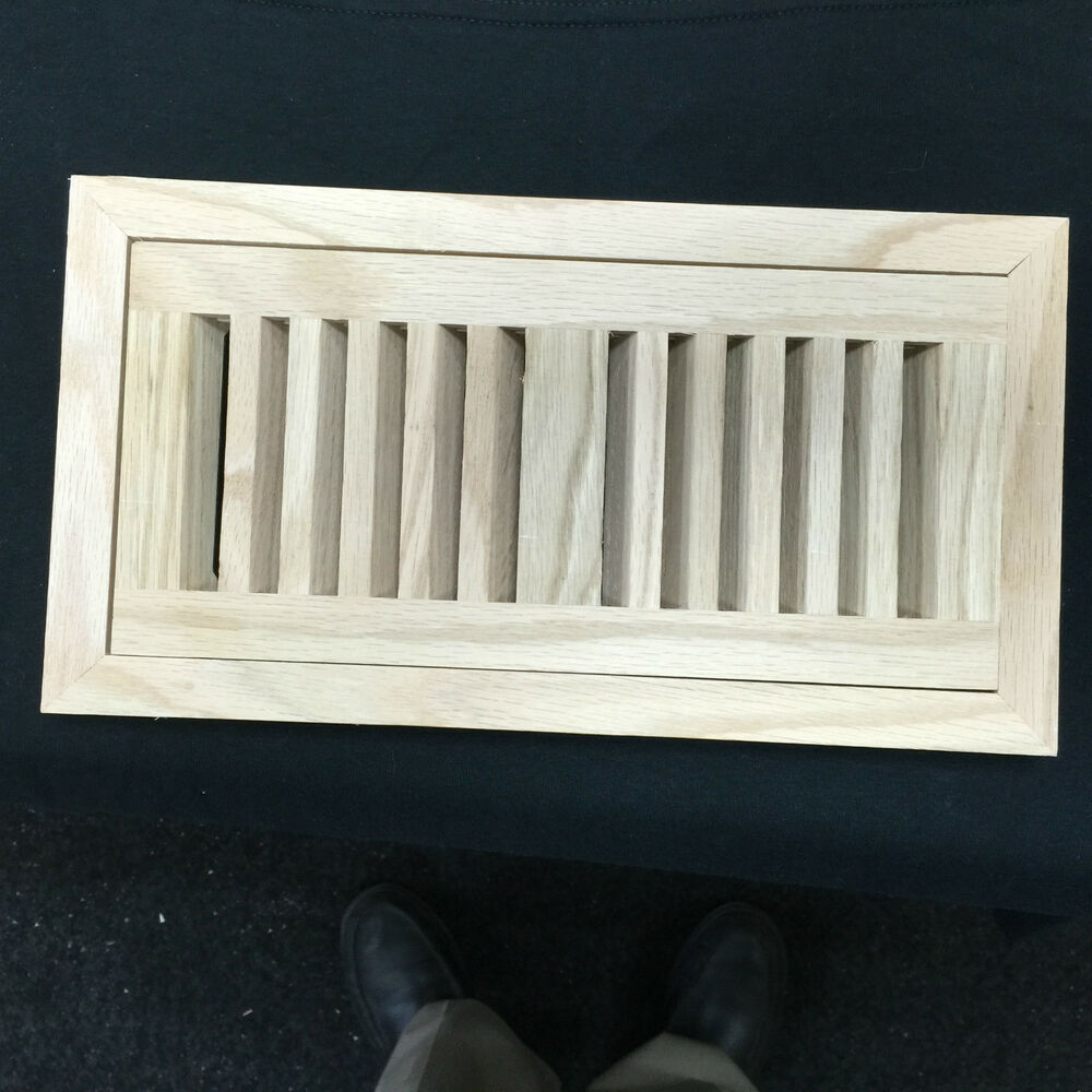 Flush Mount Oak Wood Air Vent Floor Register Multiple Size