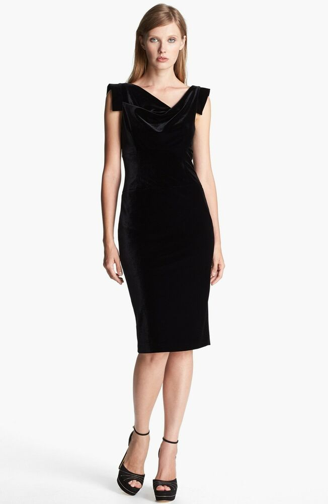 Black Halo Brand Womens Jackie O Velvet Evening Cocktail