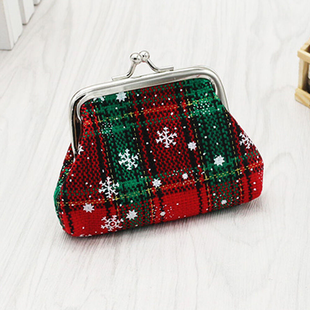 Womens christmas small wallet coin card holder purse girls