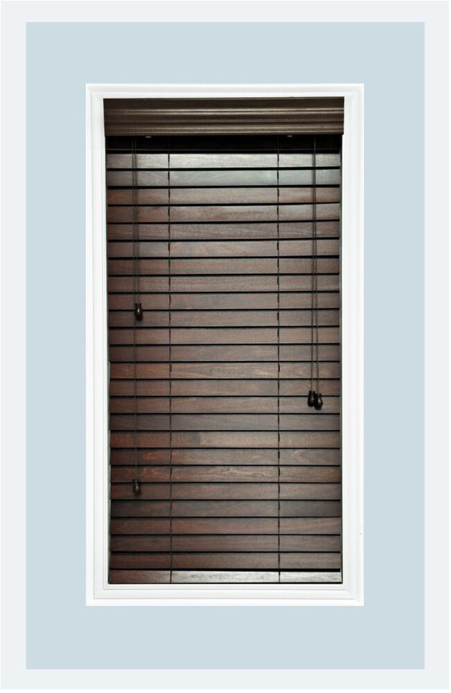 Http Www Ebay Com Itm Custom Cut To Size 2 Real Wood Horizontal Window Blind Walnut Inside Mount 122028394034