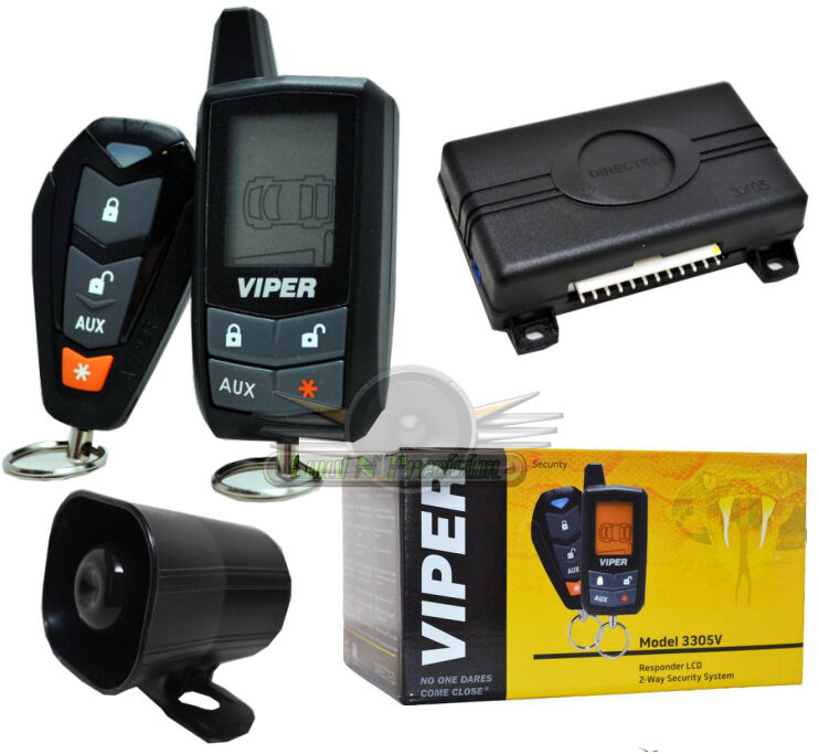 Vehicle Security Systems : Viper v responder lcd way car security system remote