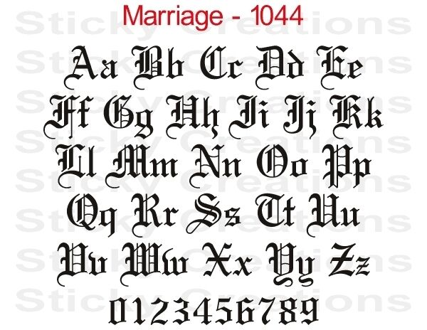 letter art font 1044 custom fancy letters windshield graphic customized 6670