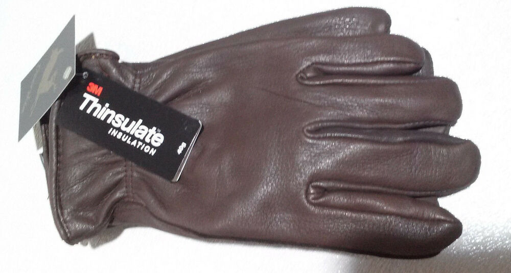 Men's Deerskin Luxury Winter Driving Glove Brown Lined 40 ...