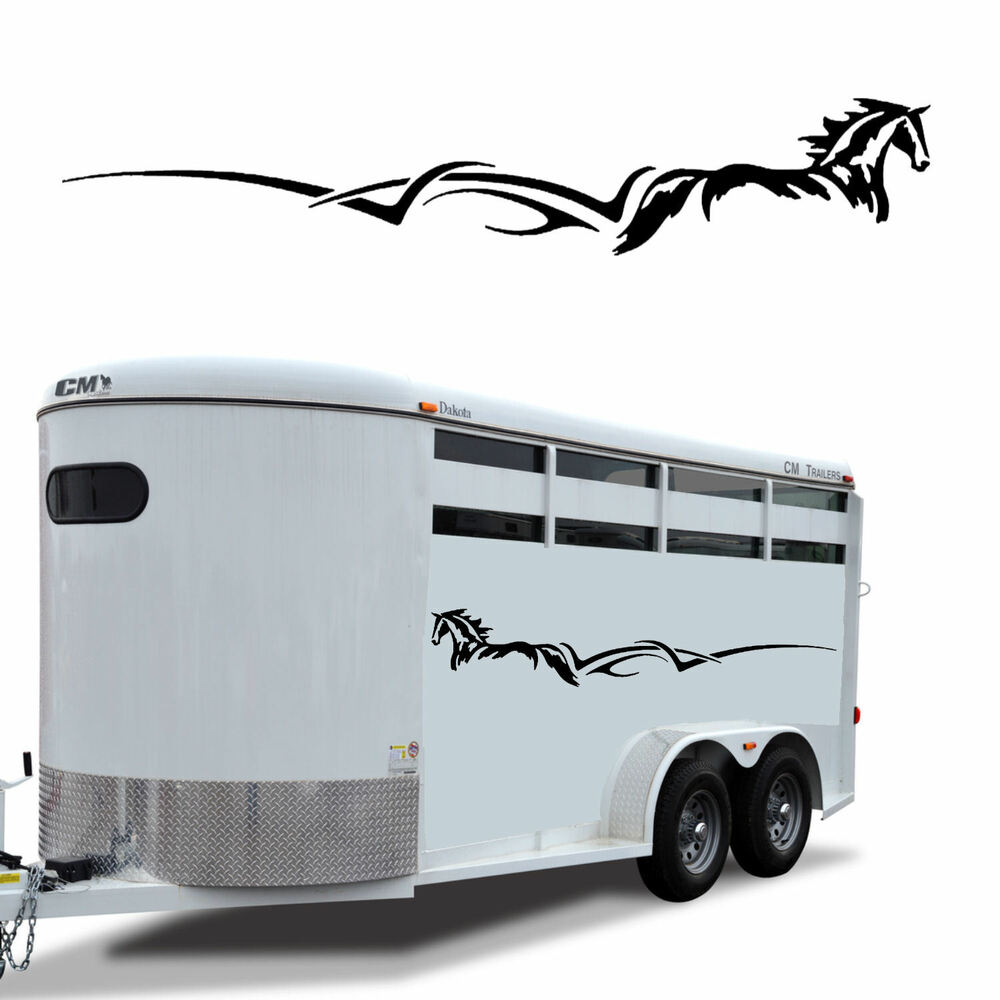 Details about horse stripe trailer decal graphic rv truck camper 60