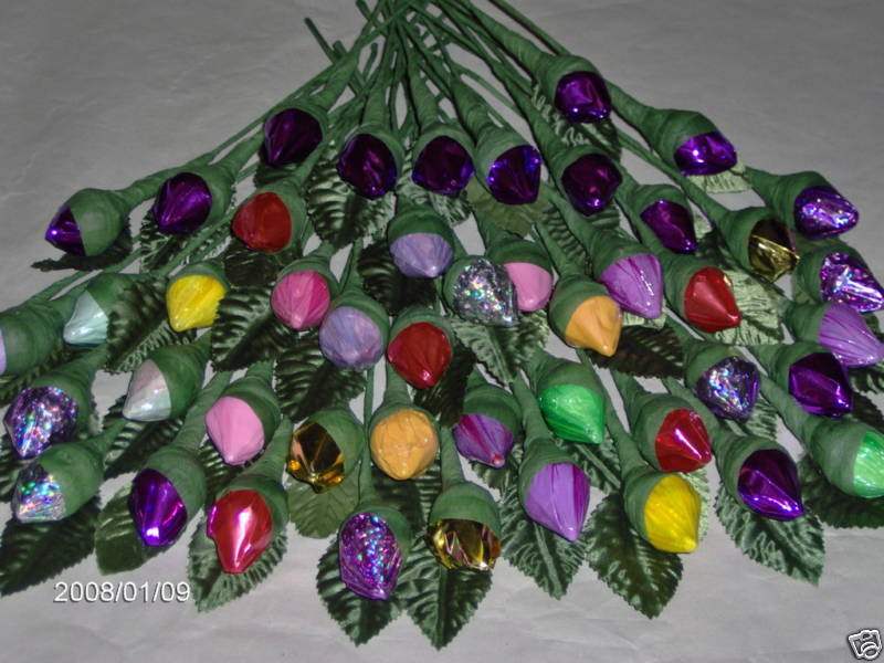 roses 125 wedding favors hershey kiss chocolate rose   baby shower   mothers day