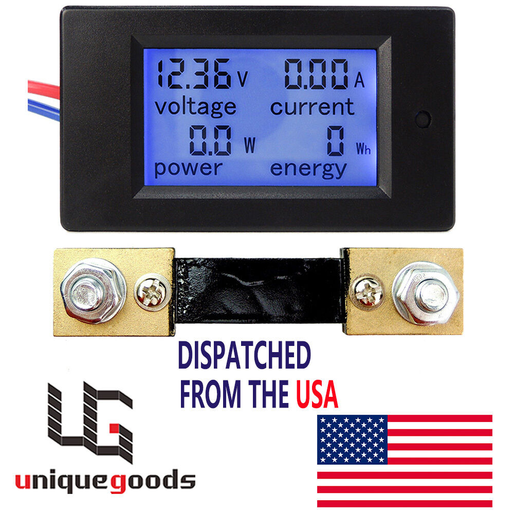 Watt Meter For Speakers: DC 6.5~100V 20-50-100A LCD Digital Combo Panel Display