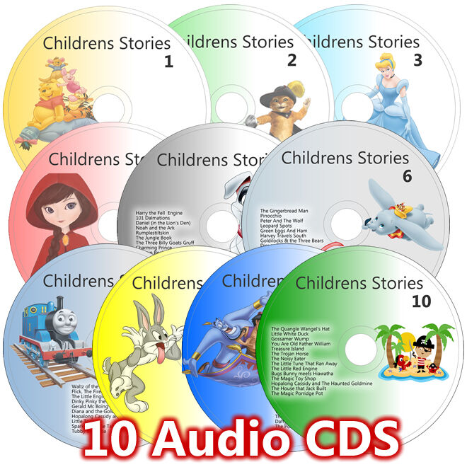 books with cd for preschoolers 100 children stories on 10 cd set classic childrens 58516