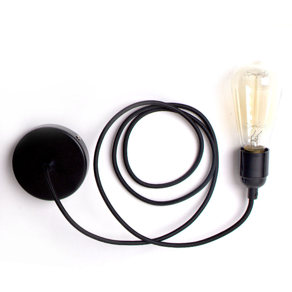 bulb plug in lantern hanging cord light socket filament bulb ebay. Black Bedroom Furniture Sets. Home Design Ideas
