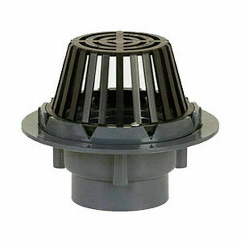 Sioux chief 867 p3m 7 1 2 dia strainer pvc roof drain 3 for House roof drain pipes