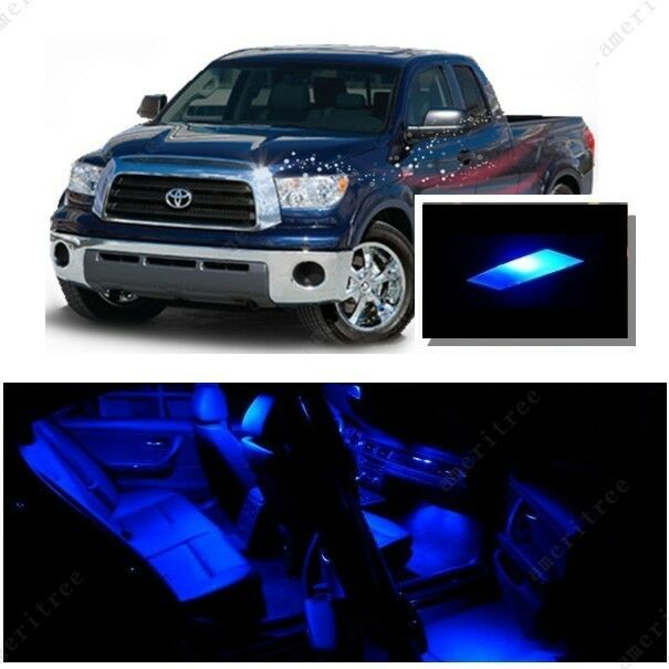 for toyota tundra 2007 2016 blue led interior kit blue license light led ebay. Black Bedroom Furniture Sets. Home Design Ideas