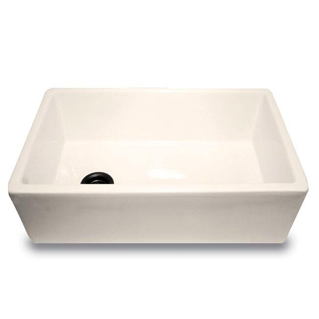 "Apron Sink Vintage Apron And Custom: 30"" Fireclay Farmhouse Apron Sink BISCUIT OffSet Drain"
