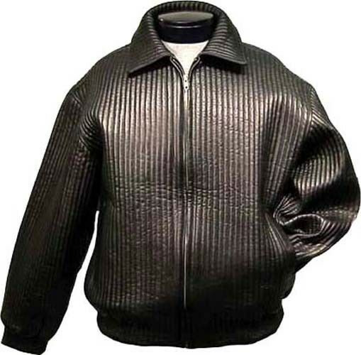 Mens Lambskin Leather Bomber Jacket With Liner Quilted