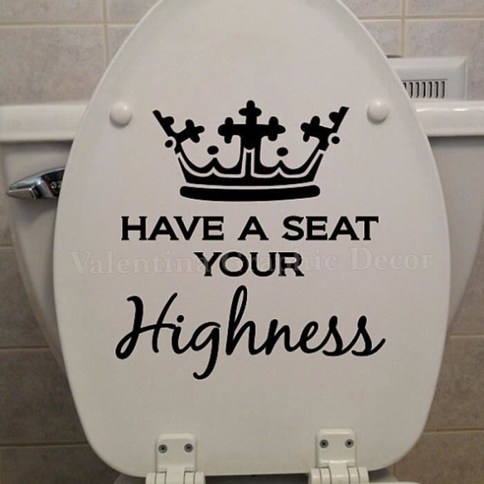 Funny Toilet Peek Sign Sticker: Funny King Throne Toilet Seat Sticker Have A Seat Your
