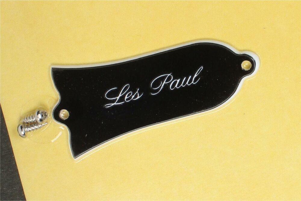 gibson historic 39 61 truss rod cover les paul engraved 2ply ebay. Black Bedroom Furniture Sets. Home Design Ideas