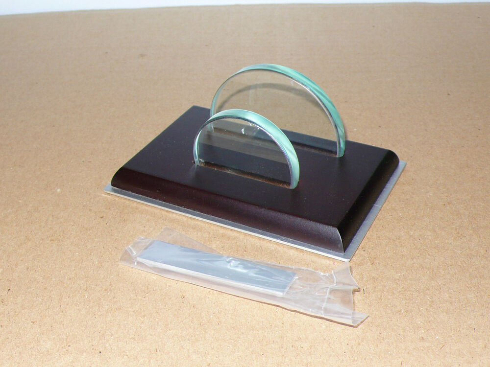 Thngs Remembered Walnut Desk Top Business Card Holder Gift