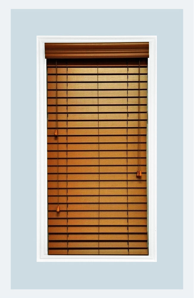 Custom cut to size 2 faux wood horizontal window blind for 2 way window blinds