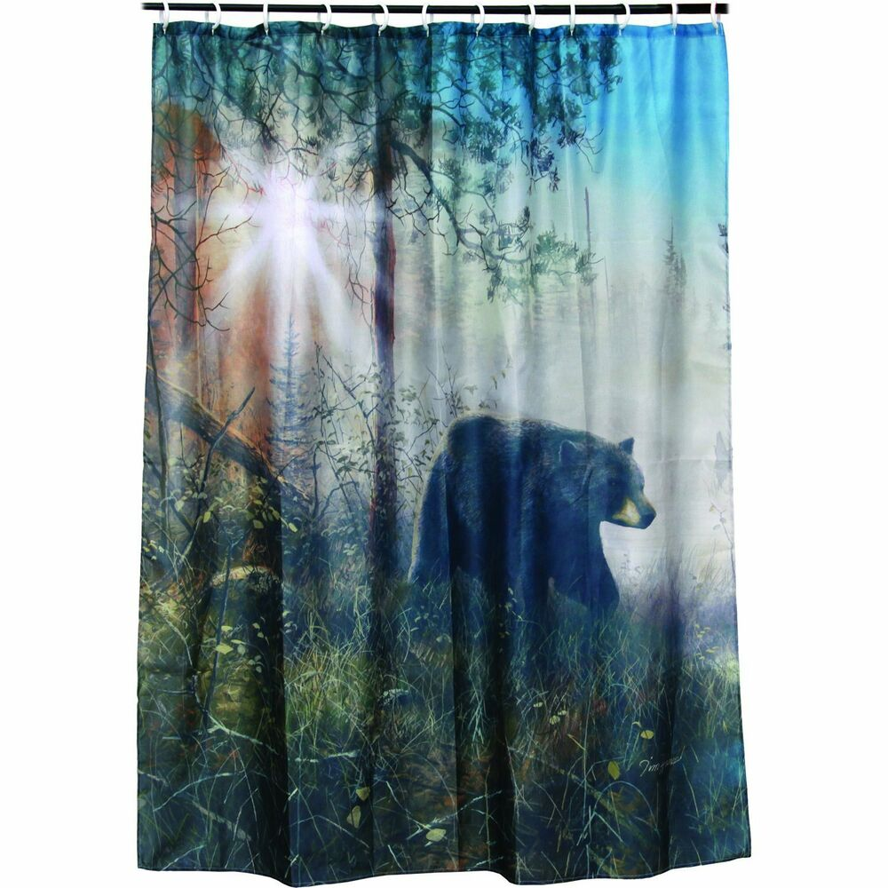 New Bear Shower Curtain Polyester Washable 70 Quot X 72 Quot Rings