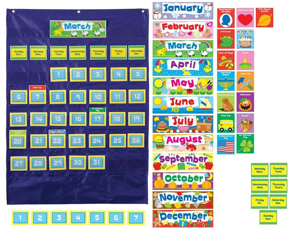 Window Decoration Ideas For Classroom ~ New calendar pocket chart students learn days months