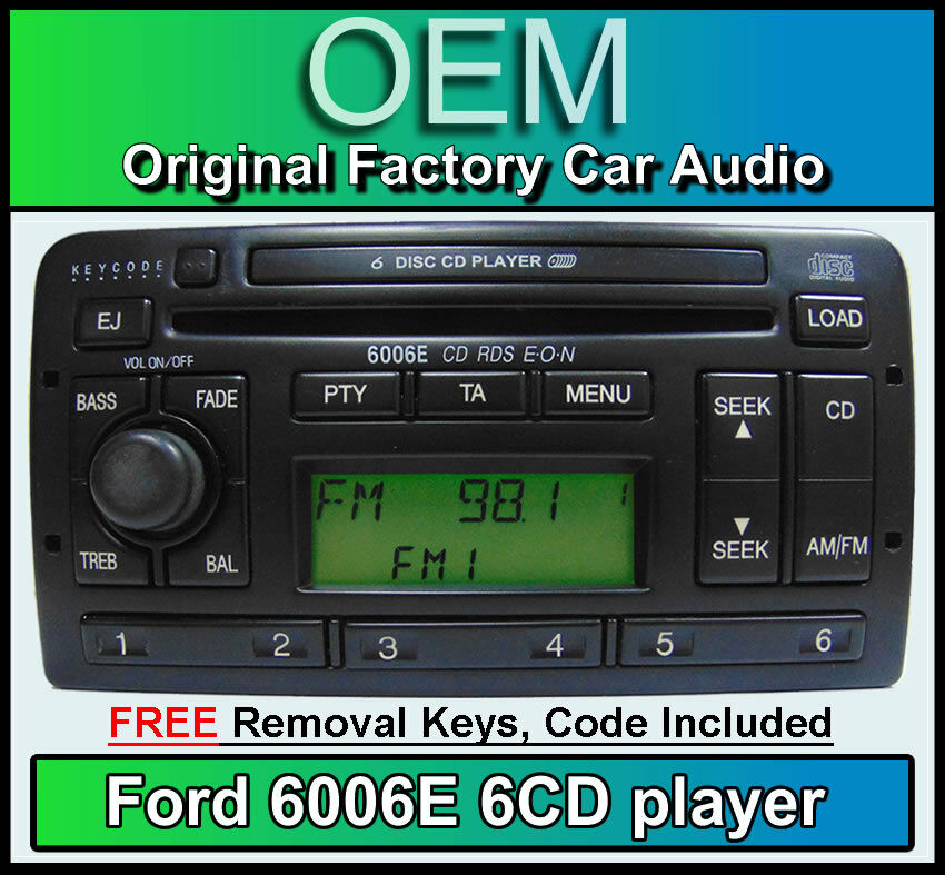 ford galaxy 6 disc changer radio ford 6006 6 cd player car stereo keys code ebay. Black Bedroom Furniture Sets. Home Design Ideas
