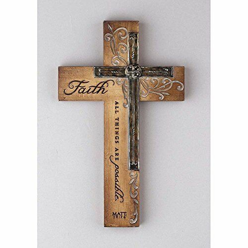 New resin religious wall cross decor faith all things free - Things to put on a wall ...