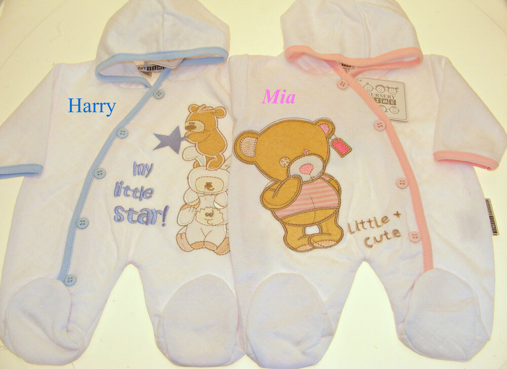Premature Baby Gifts Uk : Sale personalised sleep suits baby grow premature new
