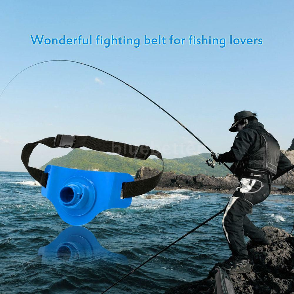 Sea belt fishing fighting belt waist rod holder fish rod for Fish fighting belt