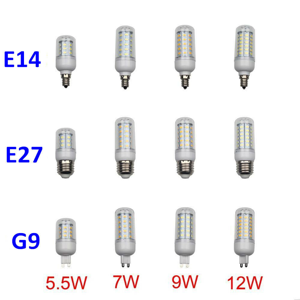5pcs E14 E27 G9 110V LED Corn Light Bulb Lamp 5.5W 7W 9W ...