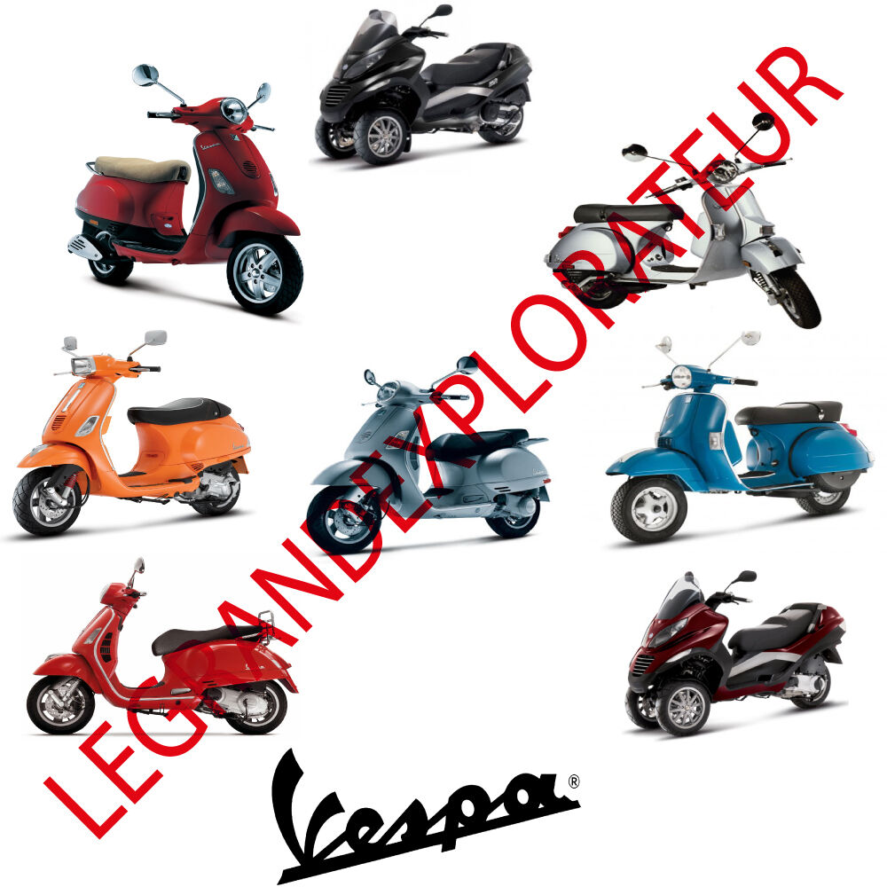 Details about Ultimate Vespa & Piaggio Repair Service Maintenance Manuals ( Manual s on DVD)
