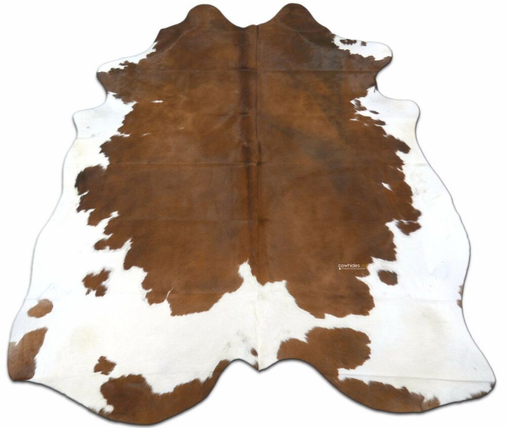 Brown Amp White Cowhide Rug Size 7 X 7 Ft Spotted Cow Hide