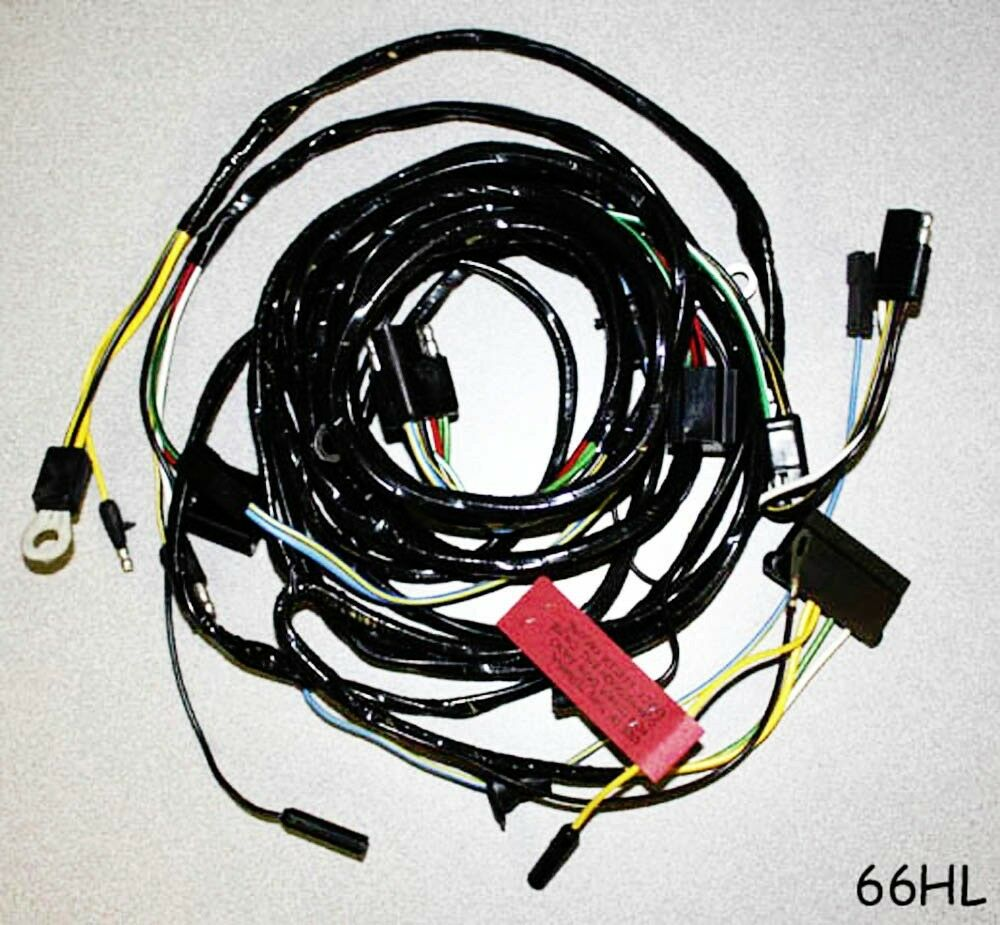 1966 Ford Wiring Harness Books Of Diagram F100 New Mustang Firewall To Headlight Wire Loom Bronco