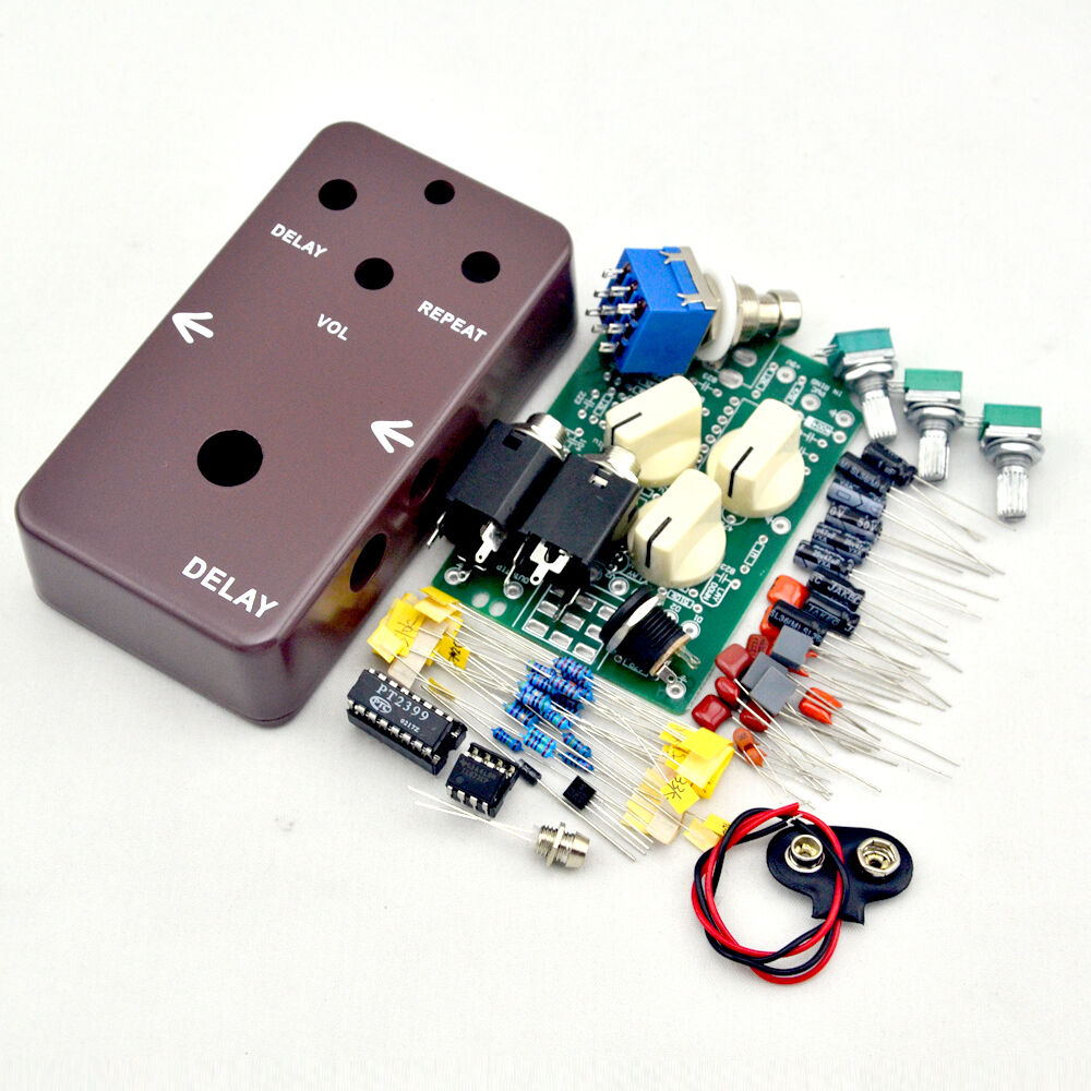 make your diy guitar effect pedal delay 1 effects electric guitar pedals ebay. Black Bedroom Furniture Sets. Home Design Ideas